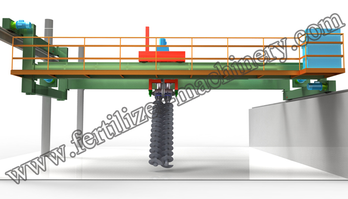 organic fertilizer compost turner machine