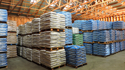 organic fertilizer warehouse and storage
