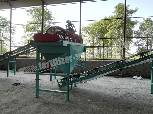 organic fertilizer screening machine
