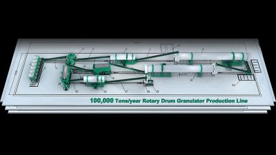 100,000 tons year Rotary Drum Granulator Production Line