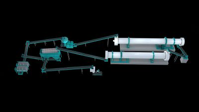 30,000 Tonsyear Flat Die Granulator Production Line